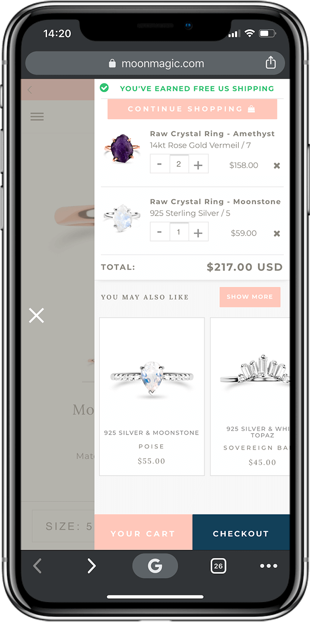 MoonMagic Shopify cross sell - alternative variation - 1